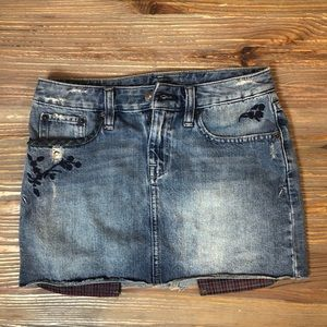 Ralph Lauren Distressed Denim Jean Skirt